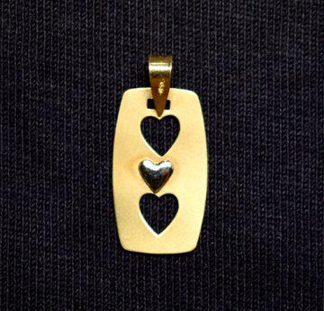 colgante chapa amor dos corazones troquel