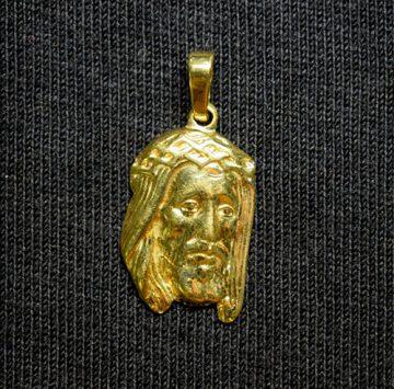 colgante oro rostro plano Jesús
