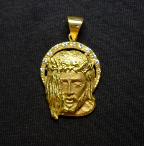 escultura oro de Jesús 5047