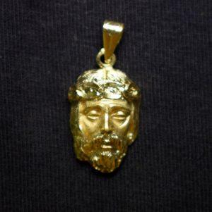 escultura rostro oro de Jesús 80456