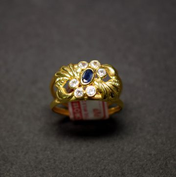 Sortija oro zafiro 4886
