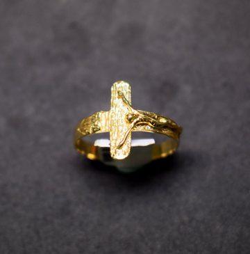 sortija oro cruz 3876