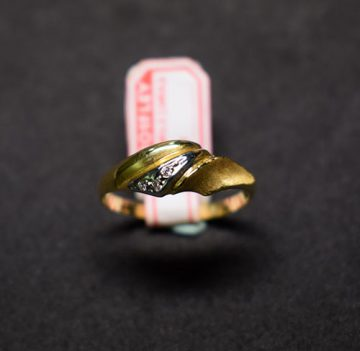 sortija de oro 2012 bicolor