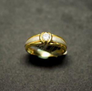 solitario oro 1044 bicolor