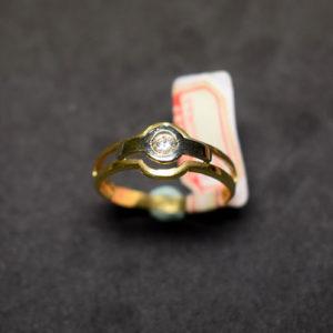 sortija oro diamante 4954 bicolor