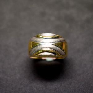 sortija oro estampada 43138 bicolor